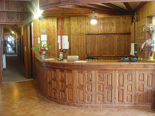 The hotel's reception